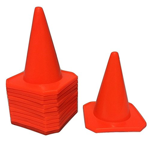 World Sport Set of 12 Neon Orange Four Inch Cones WS4IN-12