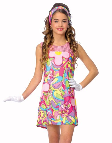Costume Culture Women's Groovy Girl Costume, Pink, ()