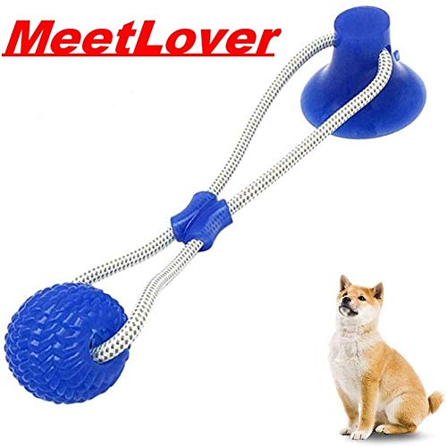 Pet Supplies Self-Playing Rubber Ball Toy with Suction Cup Dog Ropes Toy with Suction Cup Dog Interactive Molar Chew…