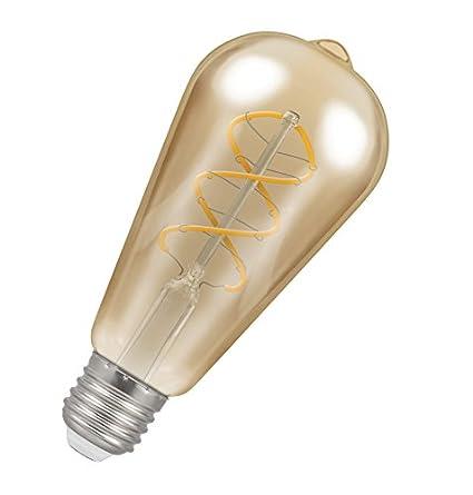 Crompton Lamps bombilla LED antique-bronze filamento en espiral, E27, 6 W: Amazon.es: Iluminación
