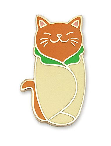 Enamel Cat Pin (Pinsanity Cute Cat Purrito Enamel Lapel Pin)