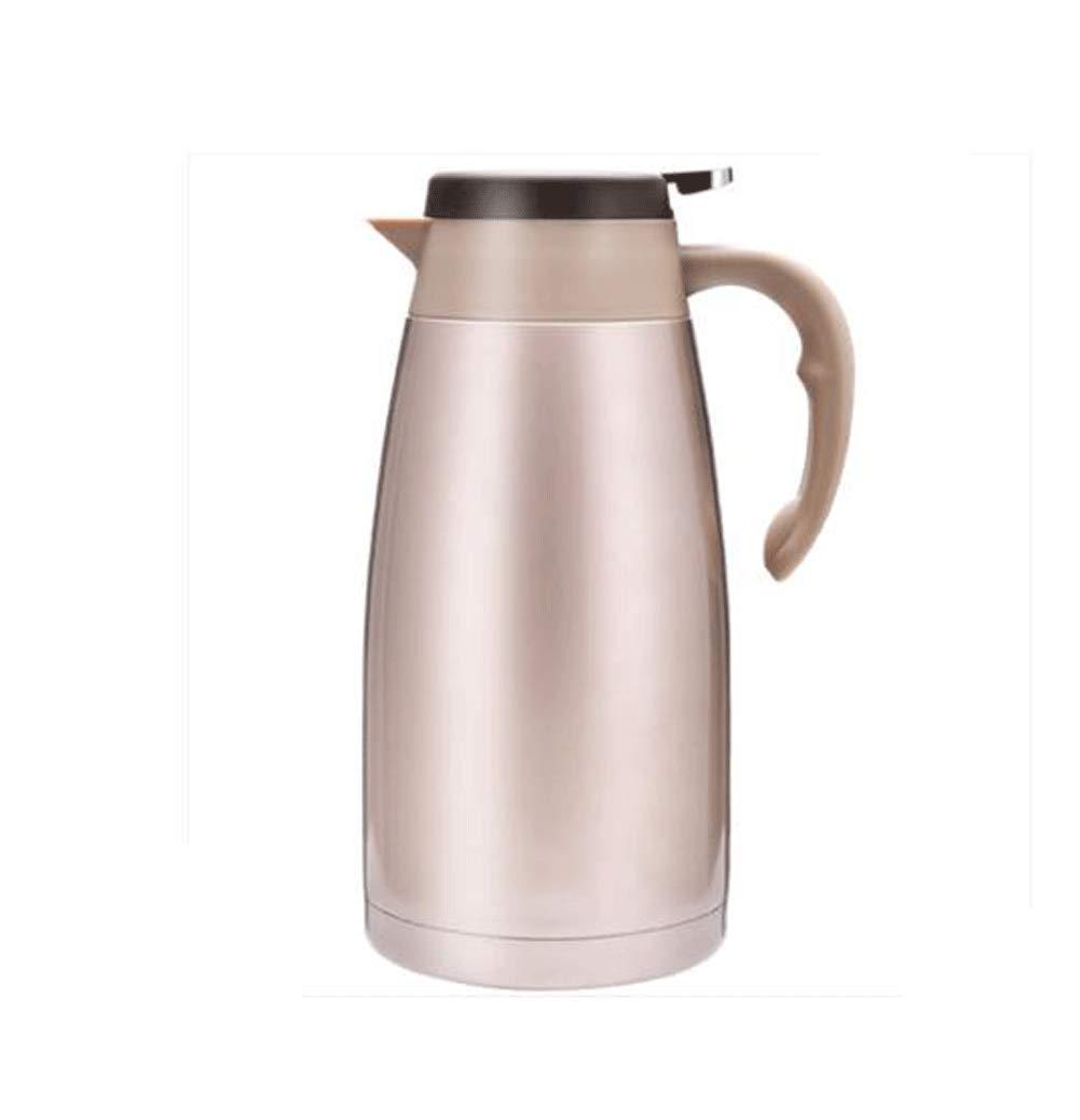 WLHW Trinkflaschen Isolierungs-Topf, 2L Haushalts-Edelstahl-Kessel-große Kapazitäts-Kaffee-warme Thermosflasche