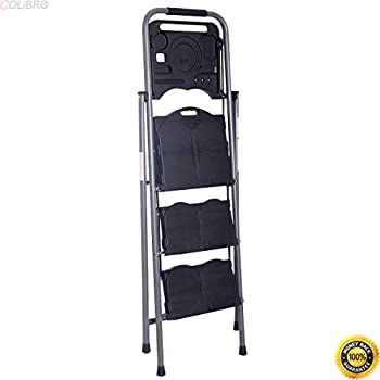 Incredible Colibrox New Hd 3 Step Ladder Platform Folding Stool 330 Lbs Capacity Space Saving W Tray Step Ladder Home Depot Lowes Step Stools Little Giant Caraccident5 Cool Chair Designs And Ideas Caraccident5Info