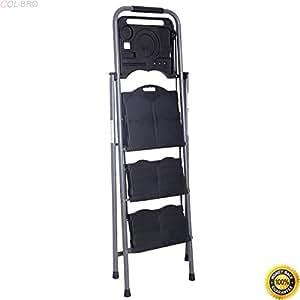 Colibrox New Hd 3 Step Ladder Platform Folding Stool 330