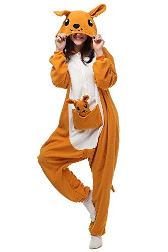 Adults Kigurumi Kangaroo Onesie Pajama Cute Animal Costume Cospaly Partywear Outfit Homewear M (Cute Animal Costumes For Men)