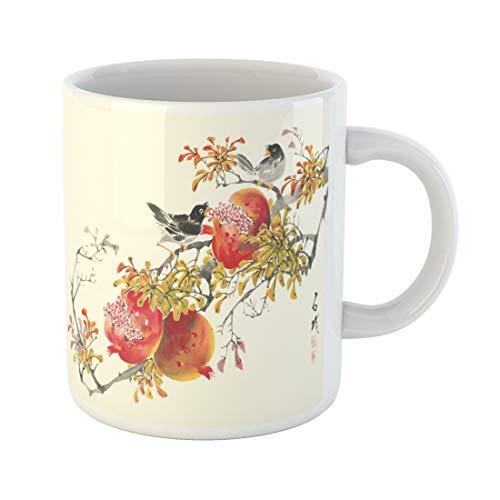 Semtomn Funny Coffee Mug Chinese Asian Traditional Painting Korean Tradition Japanese Ink Japan Korea 11 Oz Ceramic Coffee Mugs Tea Cup Best Gift Or Souvenir -