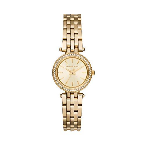 Michael Kors Petite Darci Three-Hand Watch with Glitz Accents, 26mm