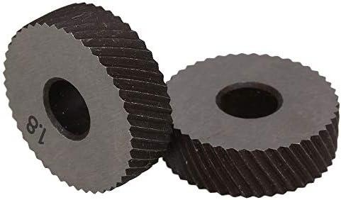 No Logo Rändelfräswerkzeuge 1 Paar 1.8mm Wälzfräser Rad Rändelrad Strukturierter Knurled Lathe Prägeradabschnitt Werkzeugmaschinen Zubehör Hebt für Metalldrehmaschine