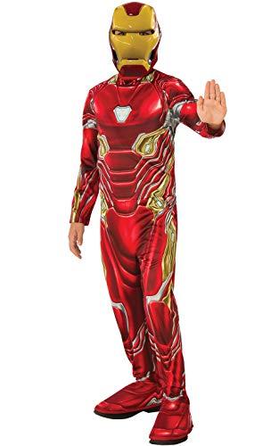 Rubie's Marvel Avengers: Endgame Child's Iron Man Mark 50 Costume & Mask, Medium (The Best Iron Man Games)
