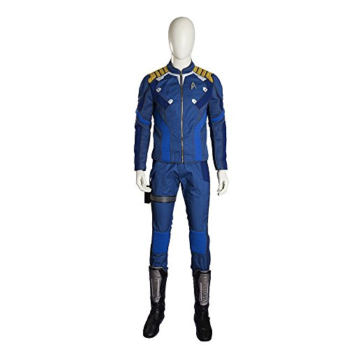 MLYX Men's Star Trek Beyond Captain Kirk Cosplay Costume Deluxe Outfit (Large) (Captain Kirk Outfit)