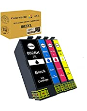 Colorworld Remanufactured 802XL Ink Cartridge Replacement for Epson 802XL 802 T802XL T802 to use with Workforce Pro WF-4720 WF-4734 Printer Ink (Black,Cyan,Magenta,Yellow 4-Pack)