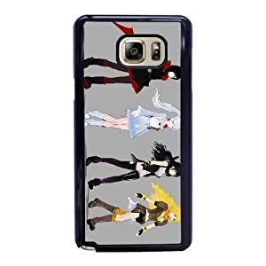 Generic Fashion Hard Back Case Cover Fit for Samsung Galaxy Note 5 Cell Phone Case black RWBY ruby with Free Tempered Glass Screen Protector EUI-8476531