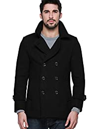 Mens Wool Classic Pea Coat Winter Coat