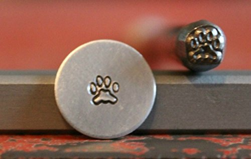 SUPPLY GUY 5mm Single Metal Punch Design Stamp: Animals, Made in USA (Not a Set) (PAW WITHOUT CLAWS SGM-50)