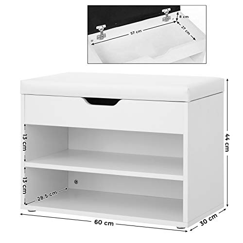 Fabulous Vasagle Shoes Storage Bench Shoes Rack With Folding Padded Caraccident5 Cool Chair Designs And Ideas Caraccident5Info
