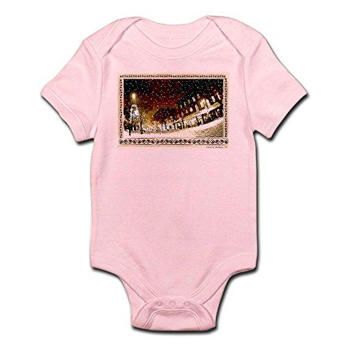 CafePress Wintery Church ST. Infant Creeper - Cute Infant Bodysuit Baby - Street Vt Burlington 1 Church