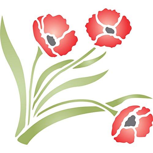 - Poppy Stencil - (size 6.5