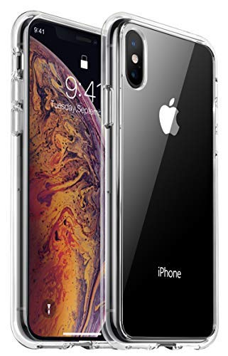 RANVOO iPhone X Max case, iPhone Xs Max case Protective Clear Case [Certified Military Protection] [Agile Button] with Reinforced Soft TPU Bumper and Transparent Hard PC Back Case Cover