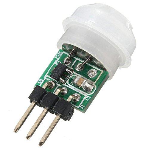 Nrpfell Mini IR Infrared Pyroelectric PIR Body Motion Human Sensor Detector Module