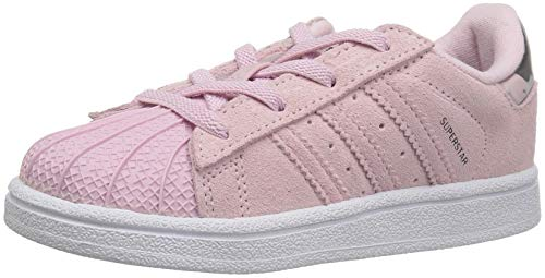 - adidas Originals Baby Superstar EL Running Shoe, Clear Pink/White, 8K M US Toddler