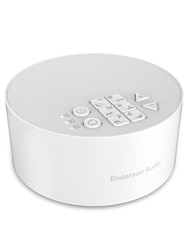 Portable White Noise Machine with 12 Non-Looping Soothing Sounds, Enderson Audio Rechargeable Sleep Sound Machine with Memory Function, 15 Levels of Volume, 3 Timer Settings & 30 Hours Runtime