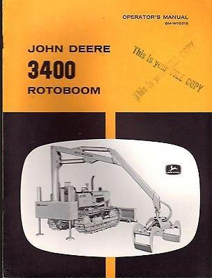 - JOHN DEERE 3400 ROTOBOOM OPERATORS & PARTS MANUAL OM-W15316 (136)
