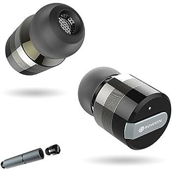 wireless headphone rowkin mini bluetooth 4 1 sport in ear earbud headset with noise. Black Bedroom Furniture Sets. Home Design Ideas