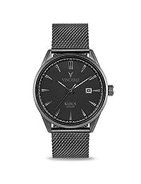 Reloj de pulsera Kairos de lujo para hombre, correa de malla de 42 mm, analógico, movimiento de cuarzo japonés de Vincero, Matte Gray, 42 mm