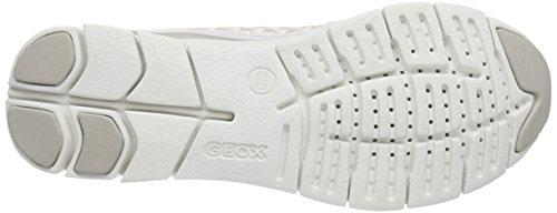 Geox D Sukie A - Zapatillas de Deporte de otras pieles mujer Weiß (WHITEC1000)