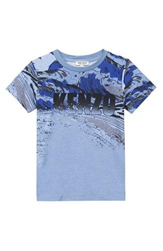KENZO Little Boys' Wave Tee Shirt -3T -LIGHTBLUE