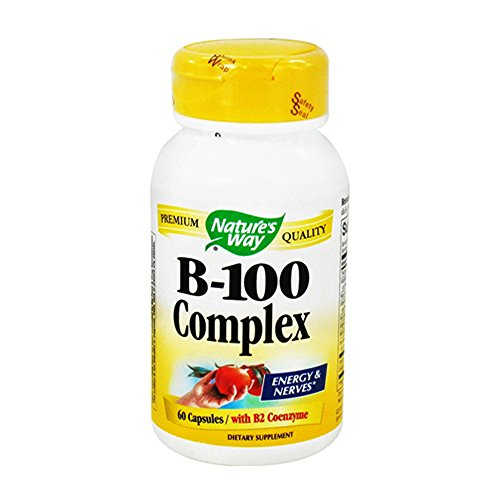 Natures Way Vitamin B-100 Complex Capsules For Energy And Nerves  - 60 (100 Ea Natures Way)