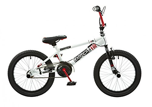 18 Zoll BMX Rooster Radical mit Rotor und Pegs , Farbe:weiss/rot
