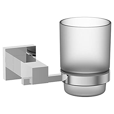 Eviva EVAC1050BN Holdy Tooth Brush Holder (Brushed Nickel) Bathroom Accessories Combination