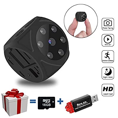 Mini Spy Hidden Camera, Multifunctional 1080P Portable Small HD DVR Recorder with Sensor Night Vision and Motion Detective, Perfect Indoor Covert Security Camera for Home and Office-No WiFi Function from M-Y Ltd.