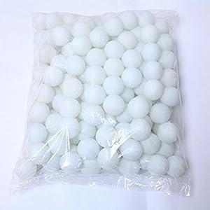 Coface 150Pcs Scrub Tischtennisball Ping Pong Ball Lotteriekugeln Weiß