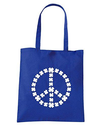 T-Shirtshock - Bolsa para la compra TIR0181 shamrock peace dark tshirt Azul Real