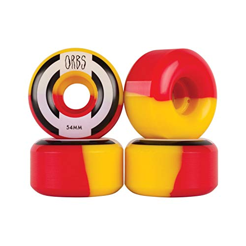 Orbs Welcome Skateboard Wheels Apparitions Red/Yellow 54mm 99A (Welcome Skateboards Wheels)