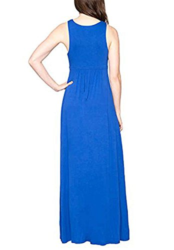 Dress Solid Over Pull Neck Crossover V M Maxi Women's Matty Cobalt xwq8F7fB8