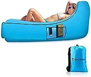 Inflatable Air Lounger, Xoolover Air Inflatable Chair Waterproof Portable Airbag Chair Sturdy Air Beach Sofa |