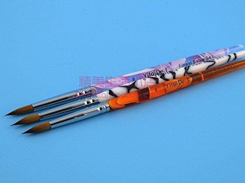 Haodental 5pcs Porcelain Ermine 8# Brush Pen Set Dental Lab Equipment by Haodental (Image #1)