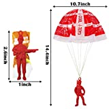 50 Pieces Parachute Toy, Tangle Free Throwing Toys