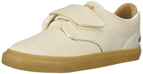 Lacoste Baby ESPARRE Sneaker off white/light tan 10. Medium US Toddler (Boys Lacoste Shoes Big)