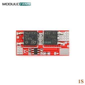 Amazon.com: Batcus 10A 1S 2S 4.2V PCB PCM Cargador Módulo de ...