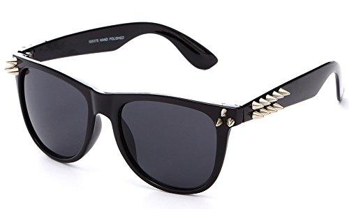 Newbee Fashion - IG Plastic Awesome Wayfarer Punk Design Spike Fashion - Spike Sunglasses