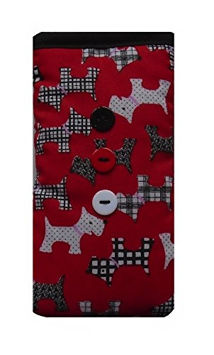 Cute Red Dogs Print Apple iPhone 5 or 5c or 5s sock / Case / Cover / Pouch