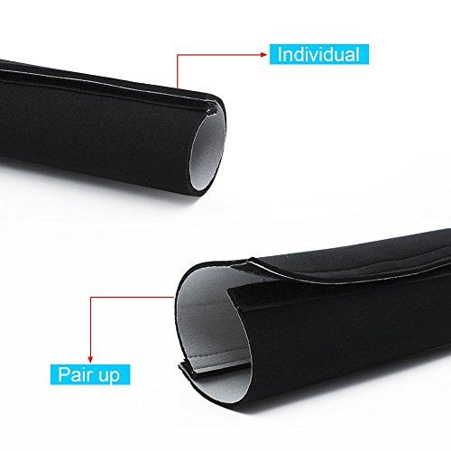 kootek 59 inch cable management neoprene cord cover sleeve for desk tv computer home theater. Black Bedroom Furniture Sets. Home Design Ideas