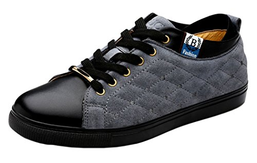 Passionow Christmas Mens 2015 New British Style Low Top Casual Flats Shoes(9.5 D(M)US, Gray)