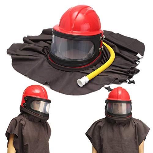 CHUNSHENN 砥粒ショットブラストクリーニングヘルメットサンドブラスト保護布ツールパイプキット 研磨用 研磨工具
