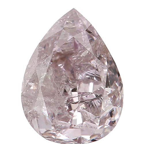 Narshiha Natural Loose Diamond Pear Pink Color I2 Clarity 4.86 MM 0.28 Ct N8022 ()