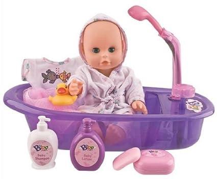 Baby Doll with bathtub set